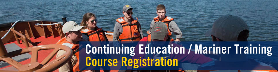 continuing education / mariner training course registration